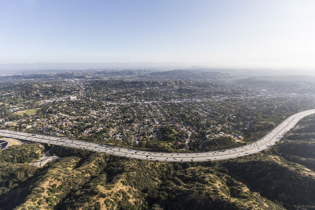 Aerial view of Eagle Rock