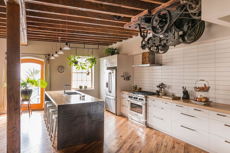 Once a pickle factory and warehouse, this 1880s building in Philadelphia  now houses an eco-friendly live-work space after a net-zero energy retrofit.