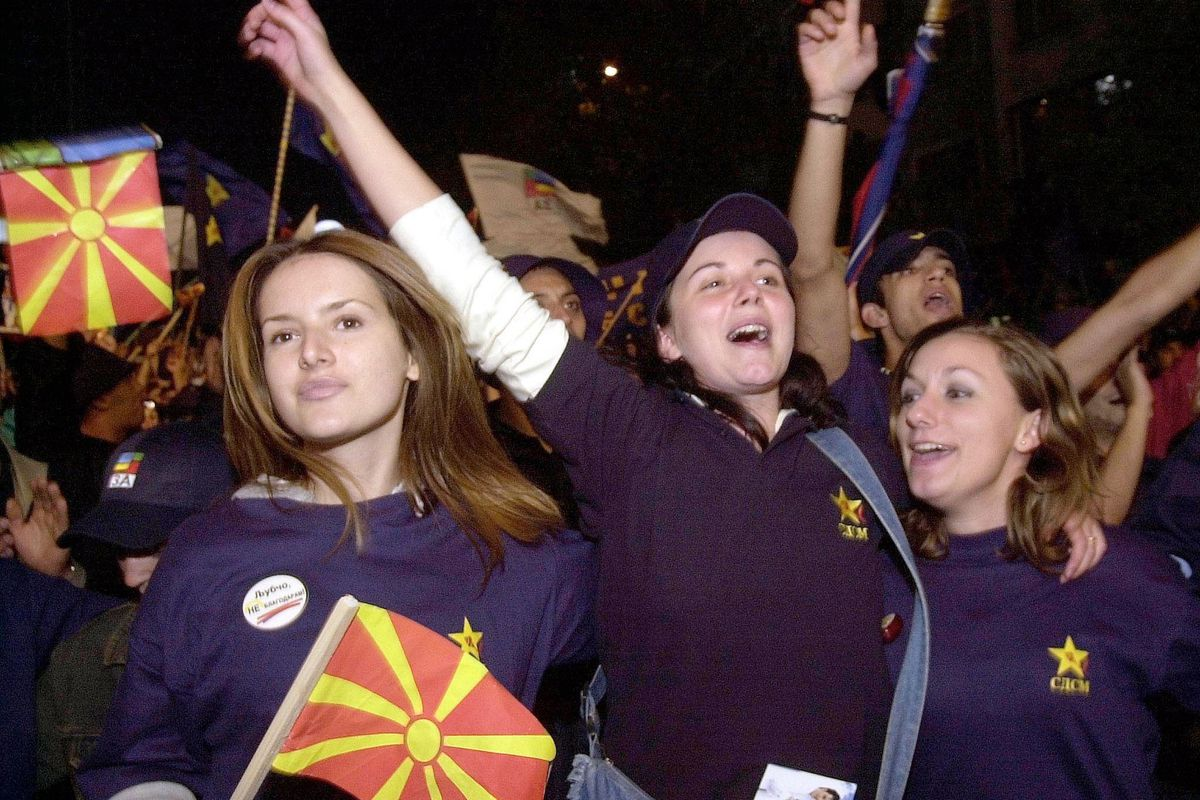 Opposition Party Rallies In Macedonia