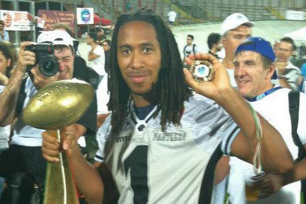 Kevin Grayson in 2012 with the Parma Panthers in Italy.