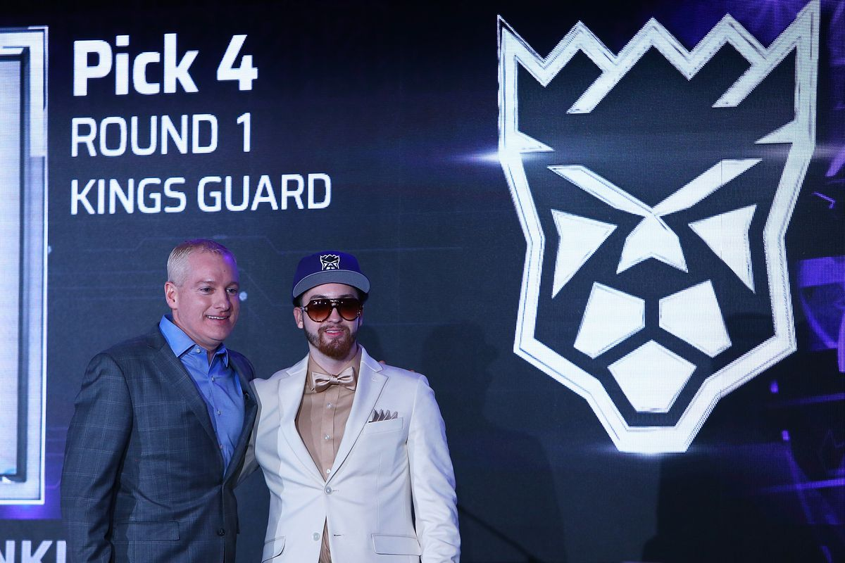 NBA 2K League Draft - NBA 2K League managing director poses with Mitchell 'Mootyy' Franklin, the No. 4 overall pick