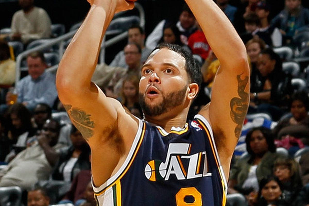 """I really liked this Deron Williams. I'm not sure I'll ever like the one wearing """"Nets"""" across his chest. I'm not sure I ever can. Whatever, I'm over it. (Photo by Kevin C. Cox/Getty Images)"""