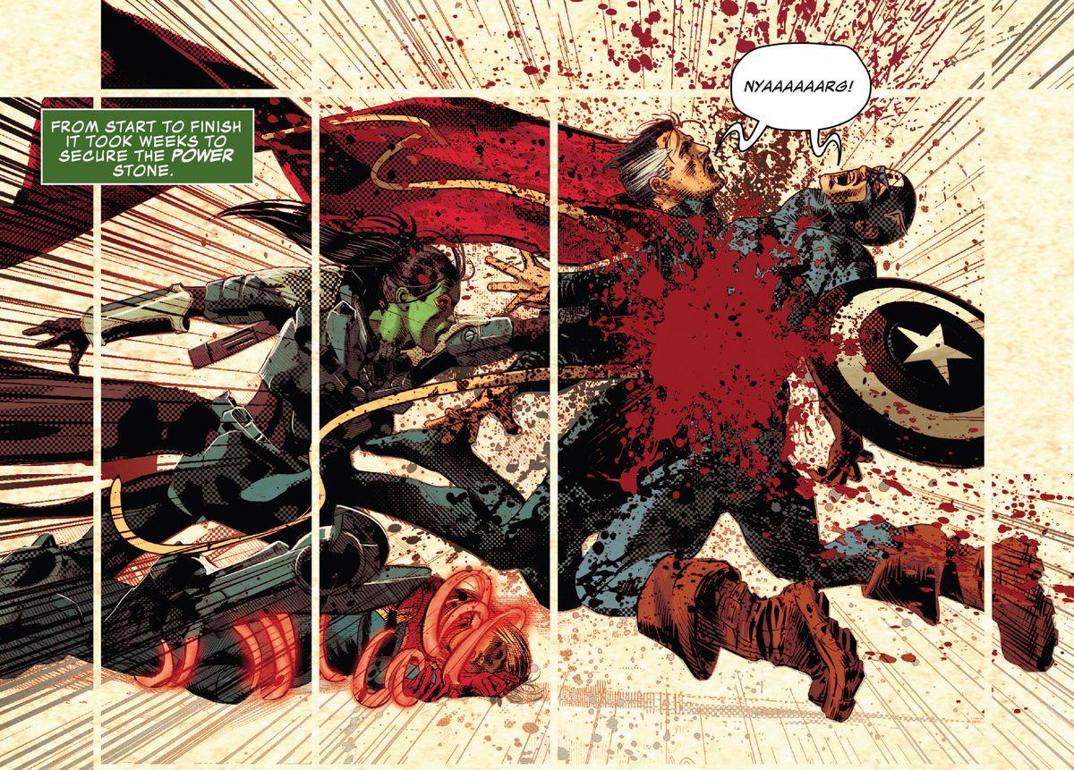 Gamora fuses Captain America and Doctor Strange as Infinity Warps setup