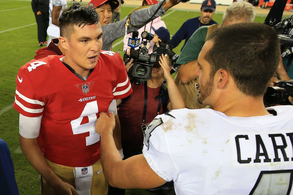 huge selection of afcf7 15c71 Raiders News 11/2: 49ers Nick Mullens puts up historic ...