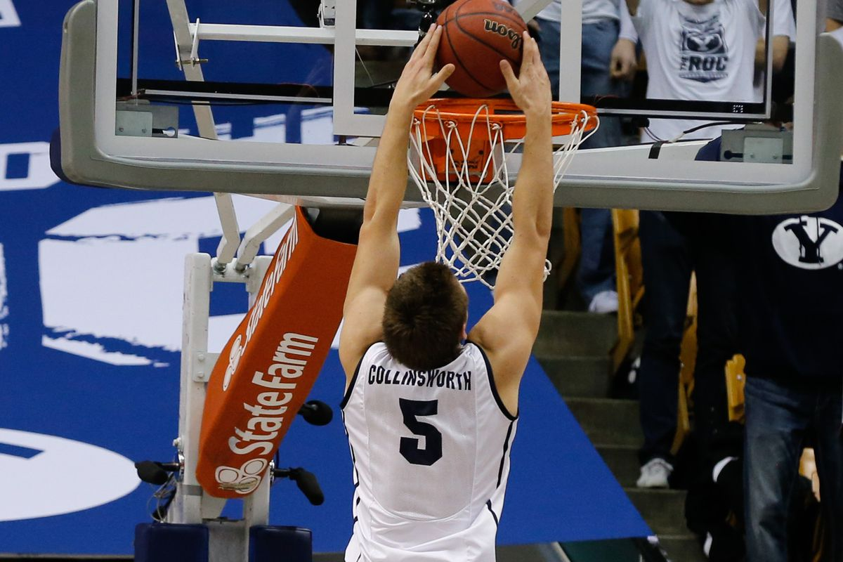 Kyle Collinsworth with big dunk vs Prairie View