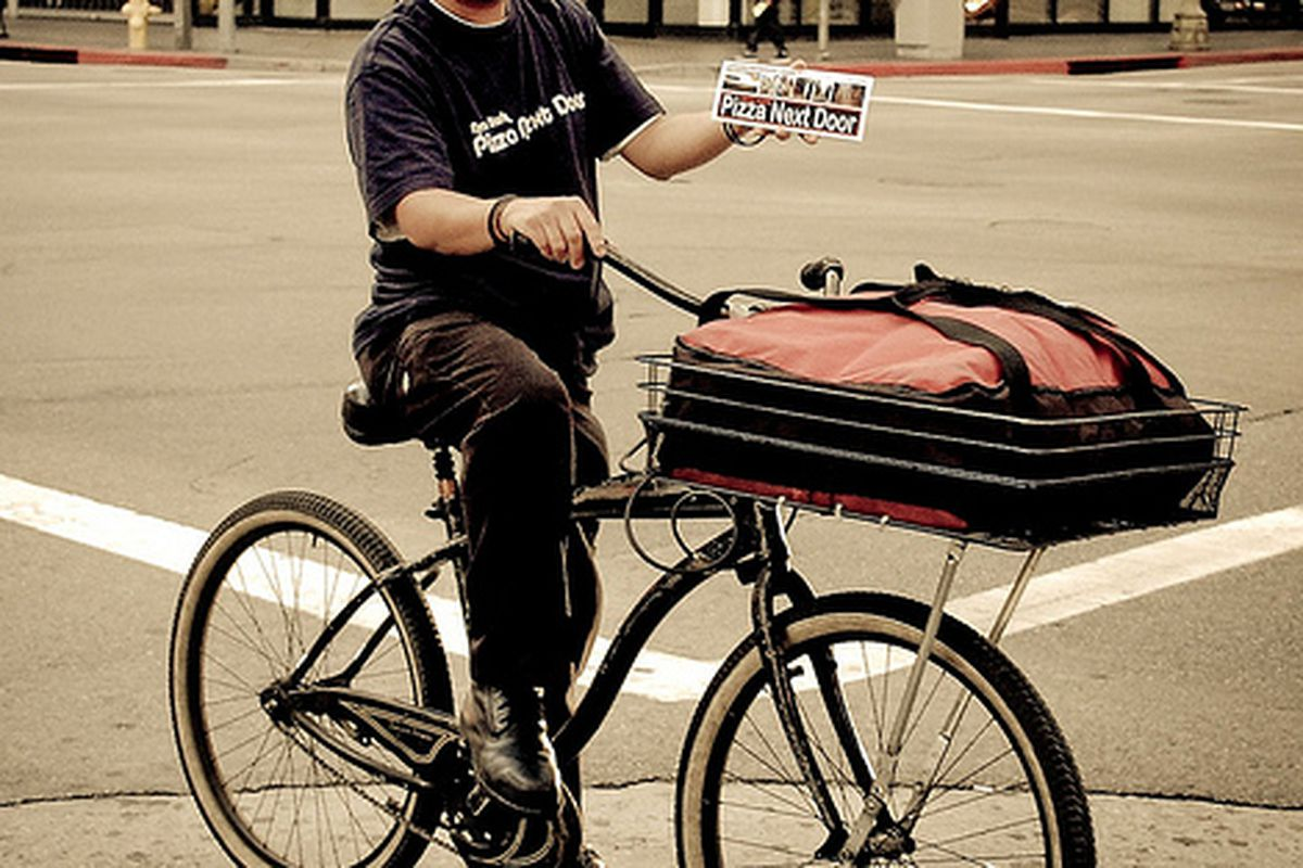 Bicycle Delivery Man, Downtown LA/