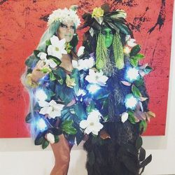 Next was another fabulous couple: Leo and Yvonne Villareal. They were so much fun to paint! They were going to a Gauguin Jungle theme party in these incredible costumes. I wrap up my day at 9:30pm after five jobs in 12.5 hours. Tired but happy.