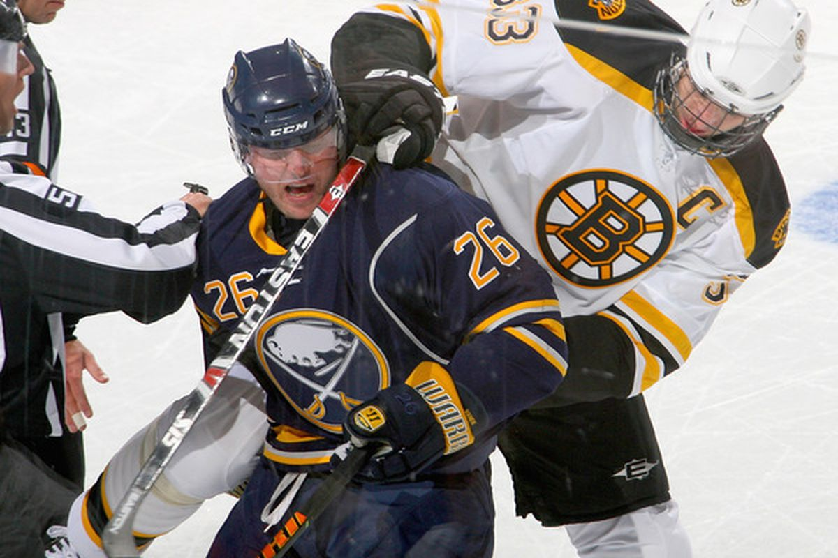 Hopefully Chara has been having nightmares for the past two weeks about getting dumped on his rear by Pat Kaleta.