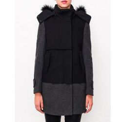 """<b>Kai-Aakmann</b> Two Tone Coat, <a href=""""http://www.articleand.com/clothing/outerwear/kai-aakmann-two-tone-coat.html"""">$448</a> at Article&"""