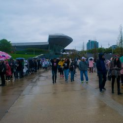 Fans brave the cold at Soldier Field for BTS, May 11, 2019. | Mark Brayboy/For the Sun-Times