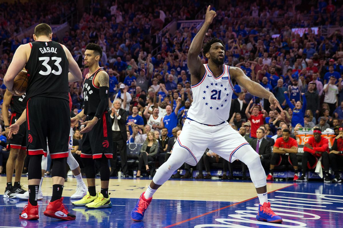 df20abb688d Joel Embiid finds new momentum in the pick-and-roll vs Raptors in Game 3