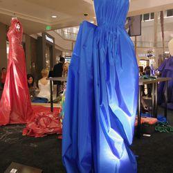 FIDM student and emerging designer Jade Thompson's cobal blue dress.
