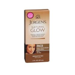 """Because your face warrants extra protection from the sun's damaging rays, it tends not to get as golden as the rest of your body. Help it along with <b>Jergens</b> <a href=""""http://www.cvs.com/shop/product-detail/Jergens-Natural-Glow-Face-Daily-Moisturizer"""