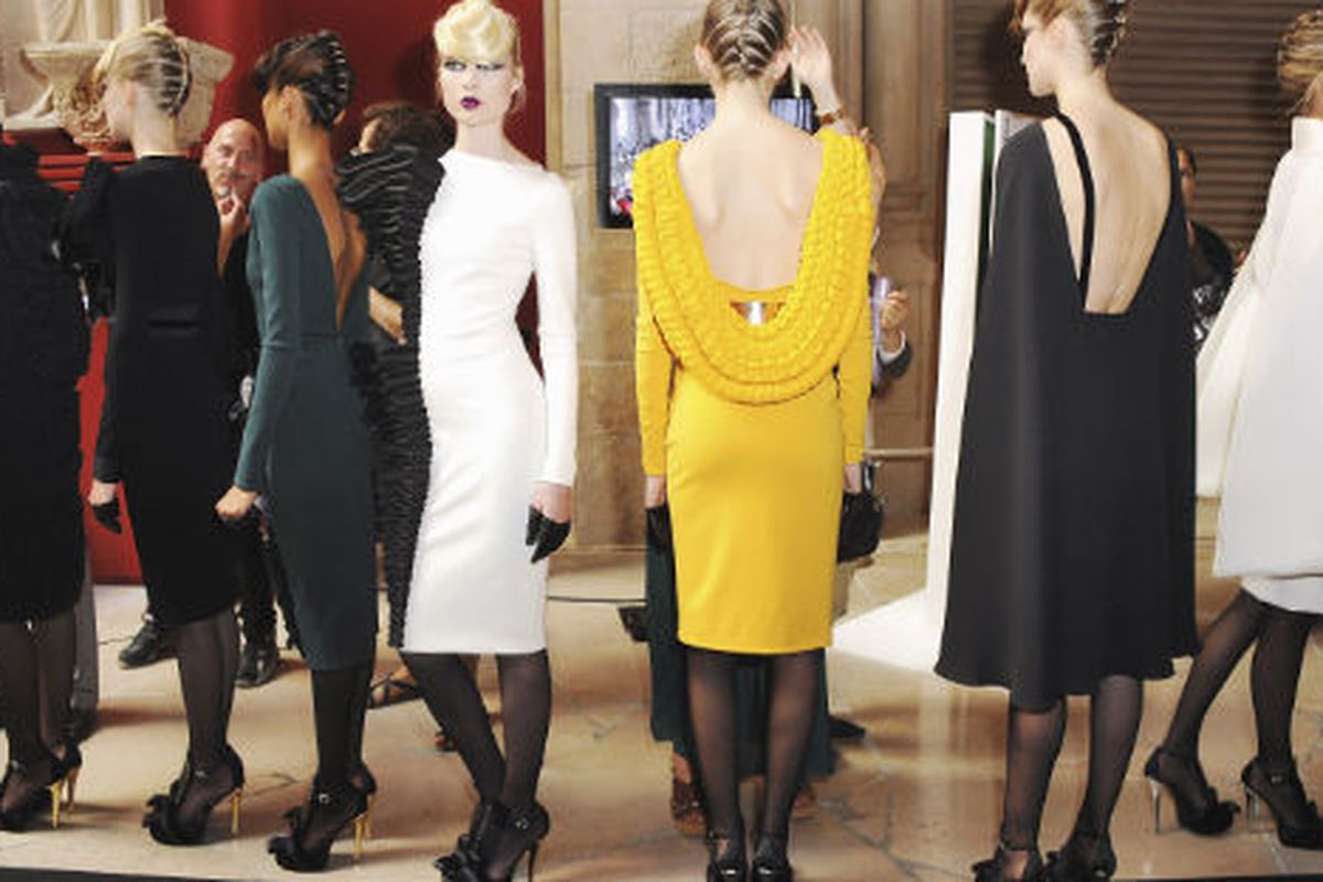 """Backstage at Stéphane Rolland, Image via <a href=""""http://gettyimages.com"""">Getty Images</a>"""