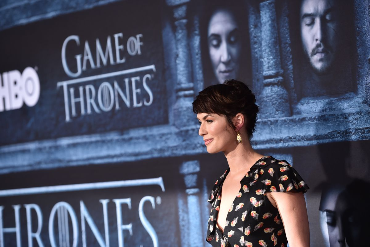 Lena Headey at the premiere of HBO's 'Game of Thrones' Season 6