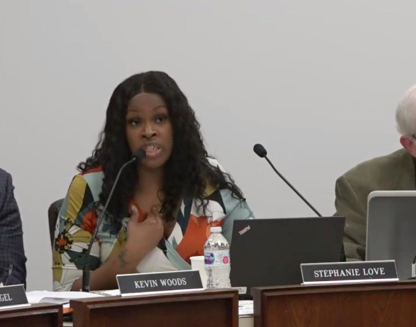 Board member Stephanie Love during Tuesday's meeting.