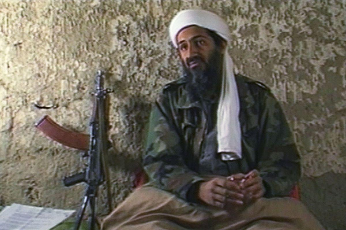A still image from a 1998 CNN documentary on Osama bin Laden.