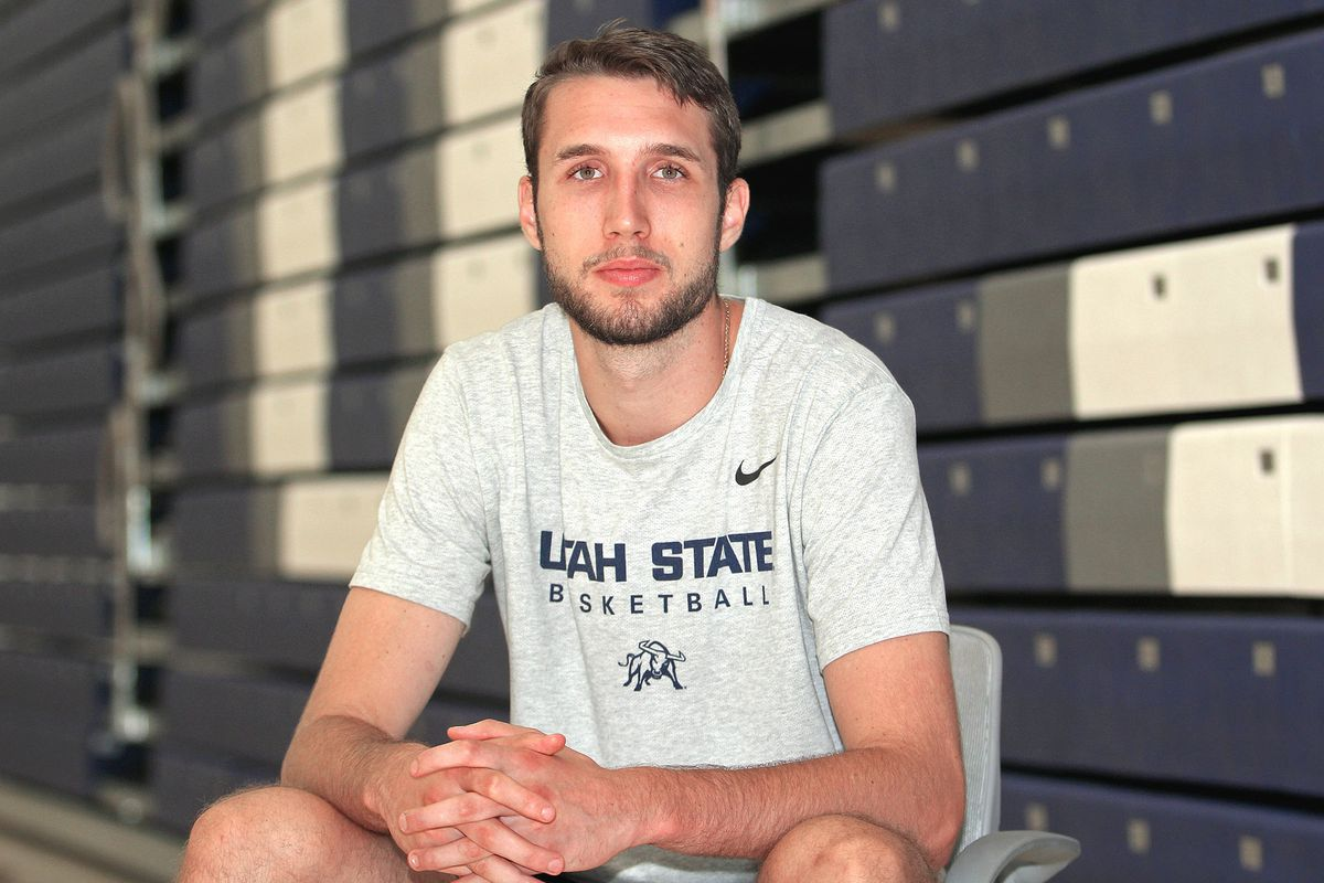 After playing four years under Ryan Odom at UMBC, Brandon Horvath followed his coach and his staff to Utah State in Logan.