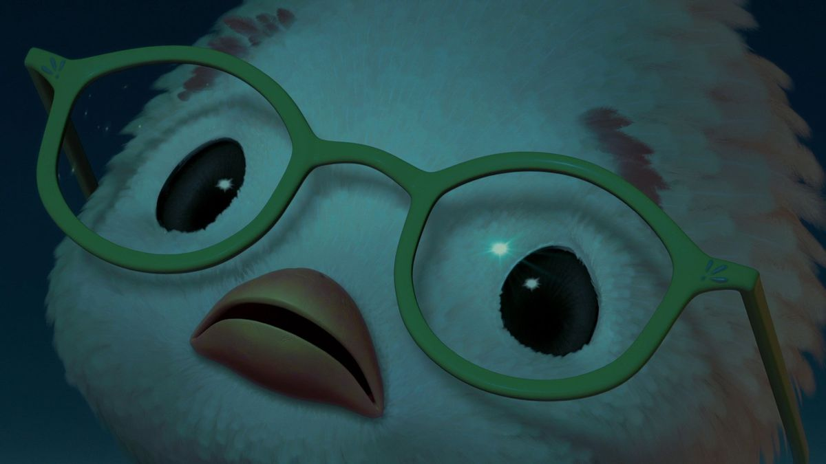Celebrity Fitness: Chicken Little's vast, blank eyes look up into utter darkness