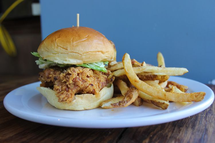 A chicken sandwich from Right Proper