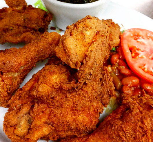 Fried chicken from Les Sisters Southern Kitchen & BBQ in Chatsworth