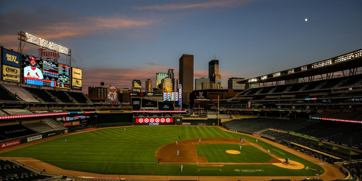 The Minnesota Twins play against the St Louis Cardinals