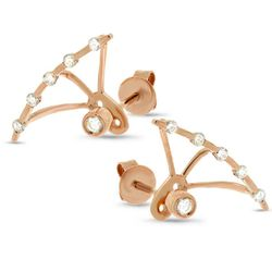 """Rose Gold Diamond Ear Jacket Earrings, <a href=""""http://www.allurez.com/index.php?file=product_detail&products_id=24646&category_id=345&Refid=google&utm_source=google&utm_medium=cpc&utm_campaign=product&gclid=COPJvYuqzb8CFUqVfgodz6QAMw"""">$519</a> (from $1,0"""