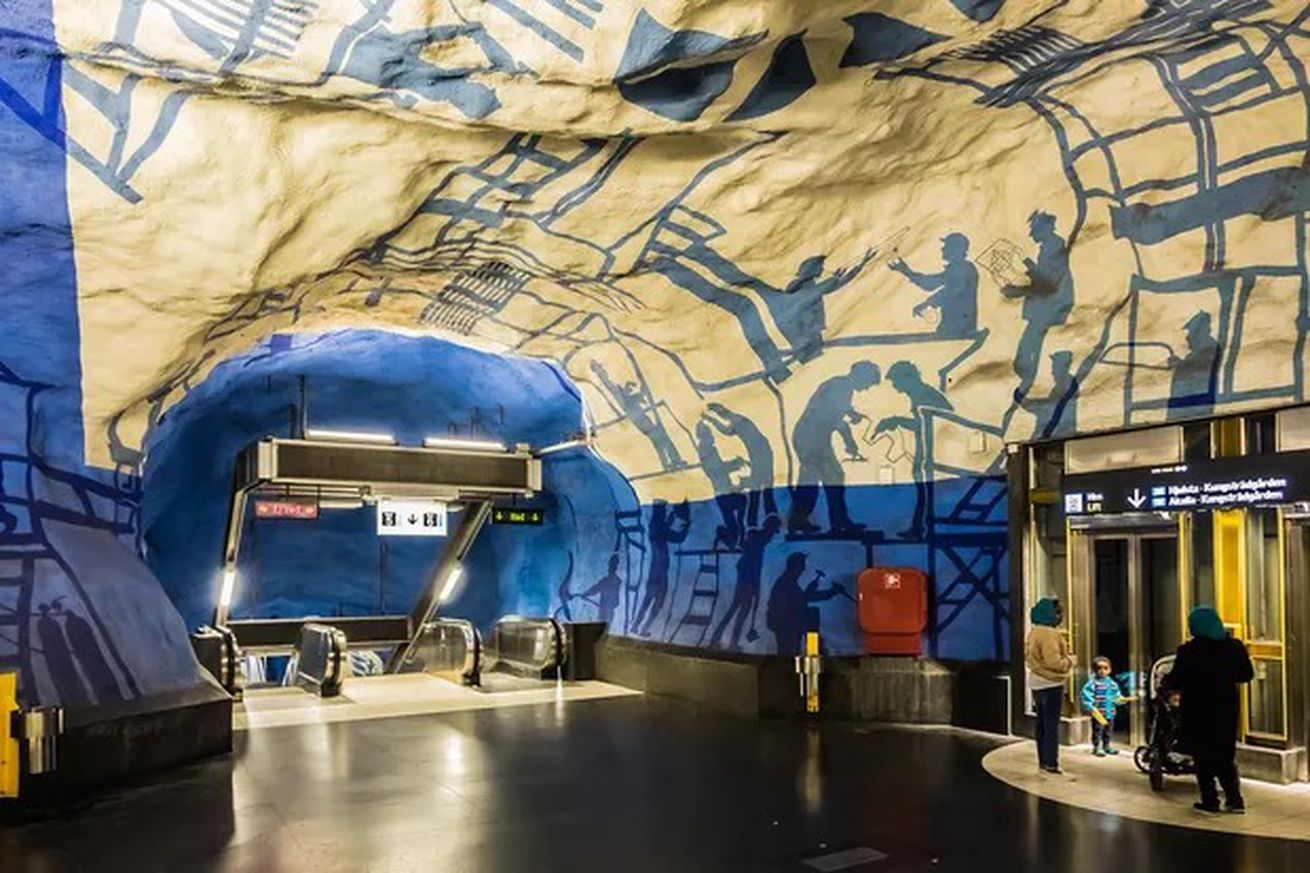 Stockholm's subway stations are accessible, reliable, and family-friendly.