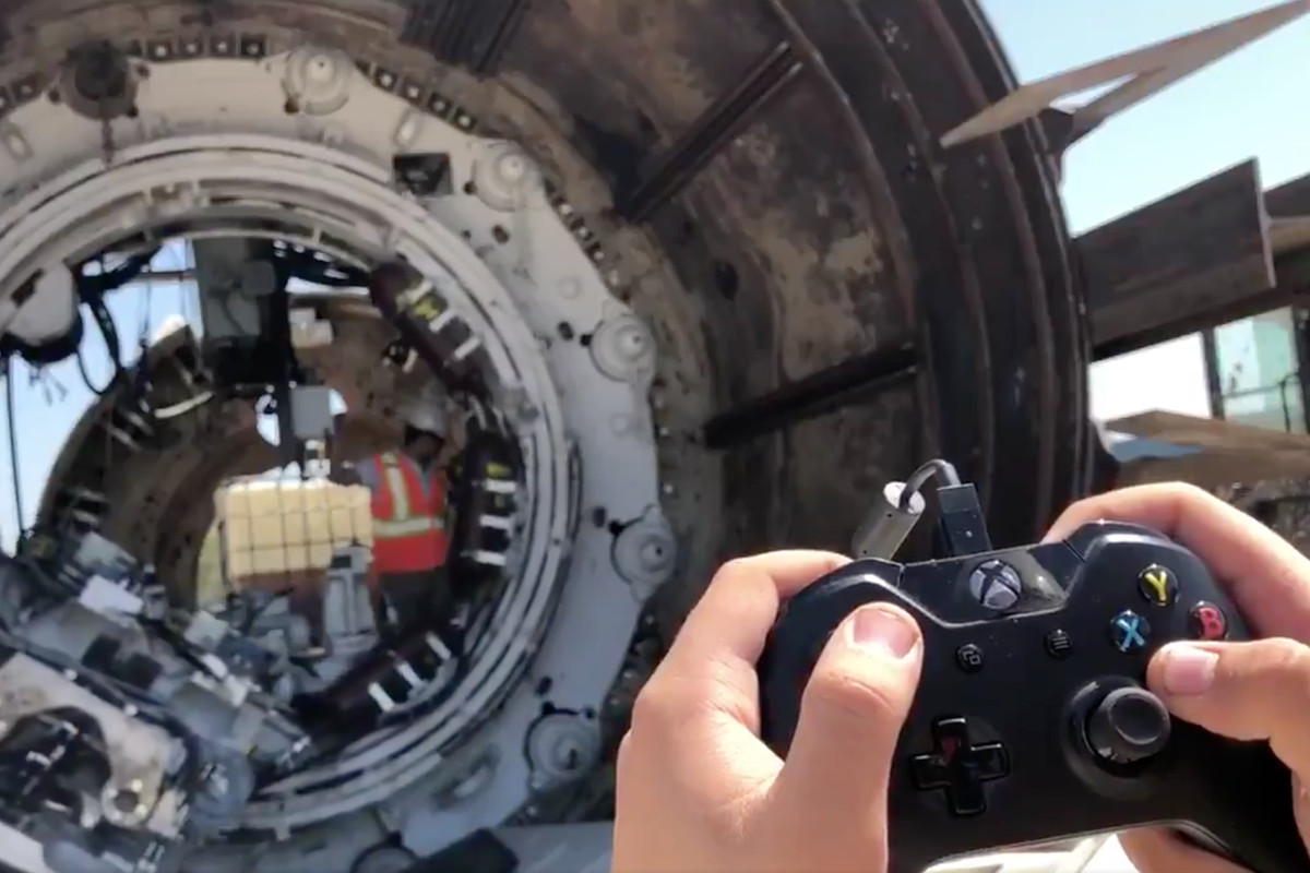 Image result for boring company using xbox controller