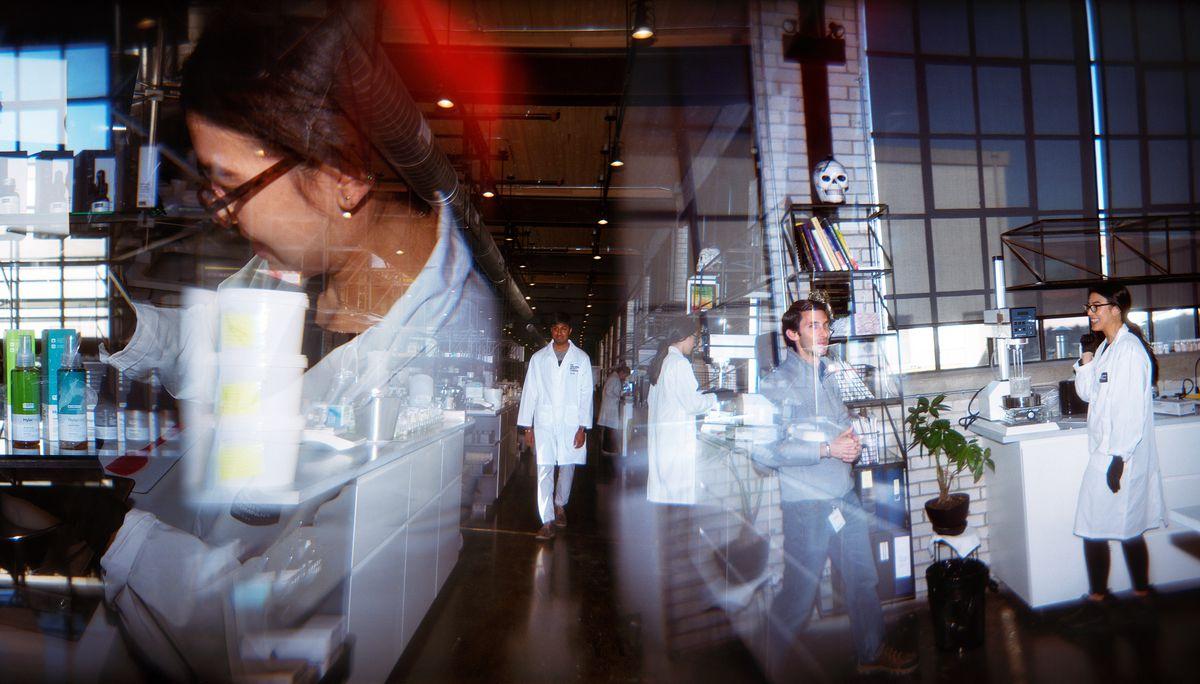 Scientists in the Deciem lab.