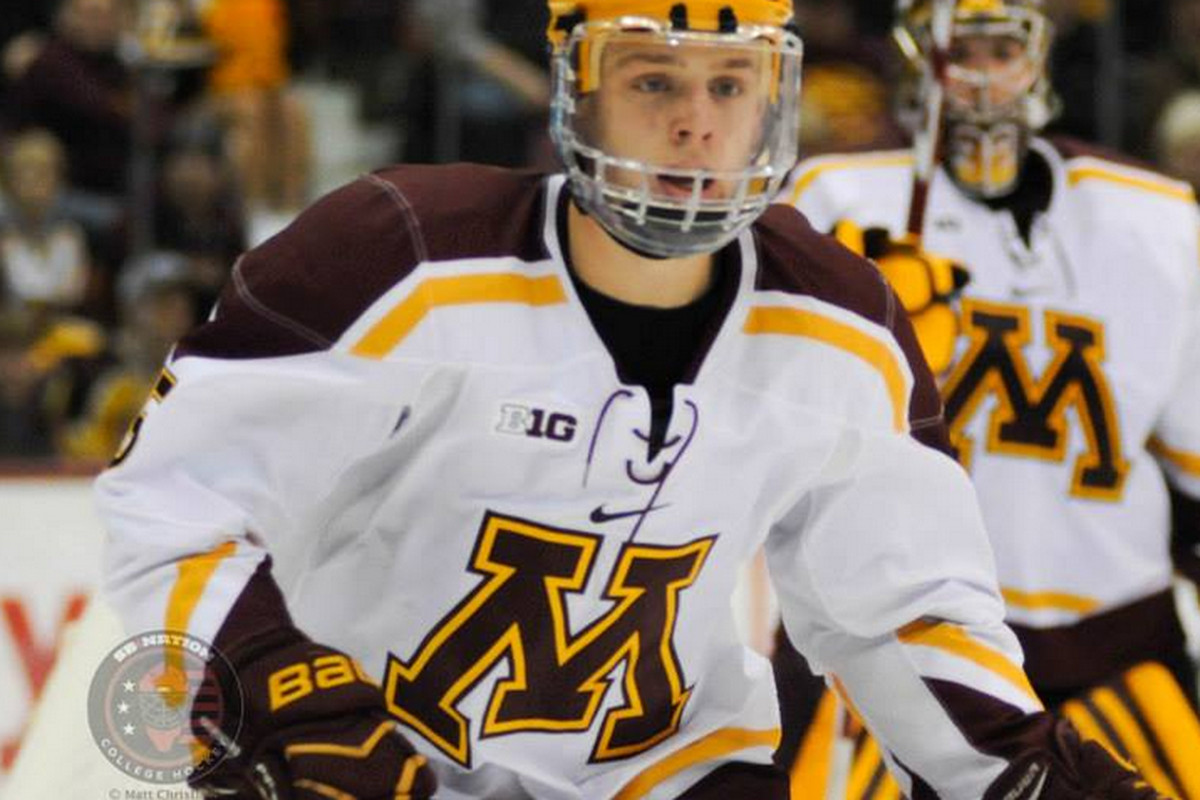 Gopher sophomore Mike Reilly had a career-high 3 assists Friday against Ohio State