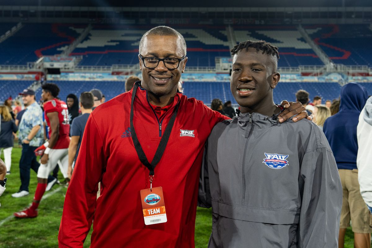 FAU Owls newly hired Head Coach Willie Taggart attends the Cheribundi Boca Raton Bowl college football game between the Southern Methodist University Mustangs and the FAU Owls on December 21, 2019 at FAU Stadium in Boca Raton, FL.