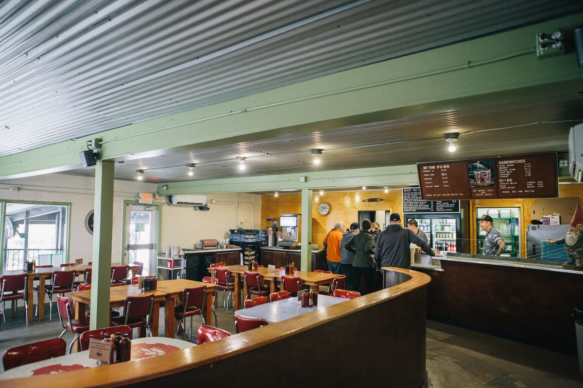 The inside of the new Franklin Barbecue