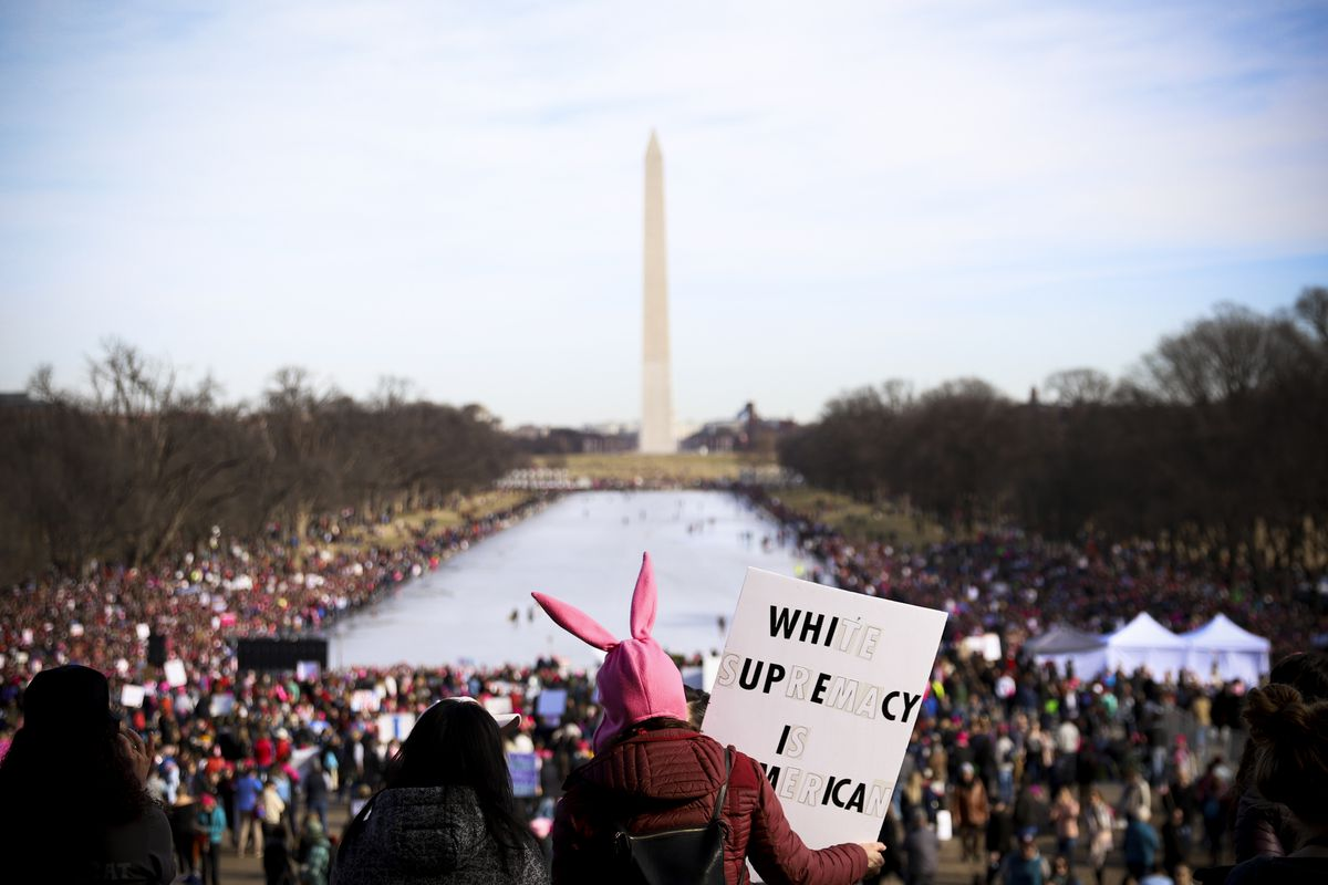 Women's March in Washington, DC, on January 20, 2018.
