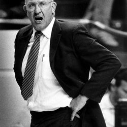 Ladell Andersen in action while head coach at BYU.