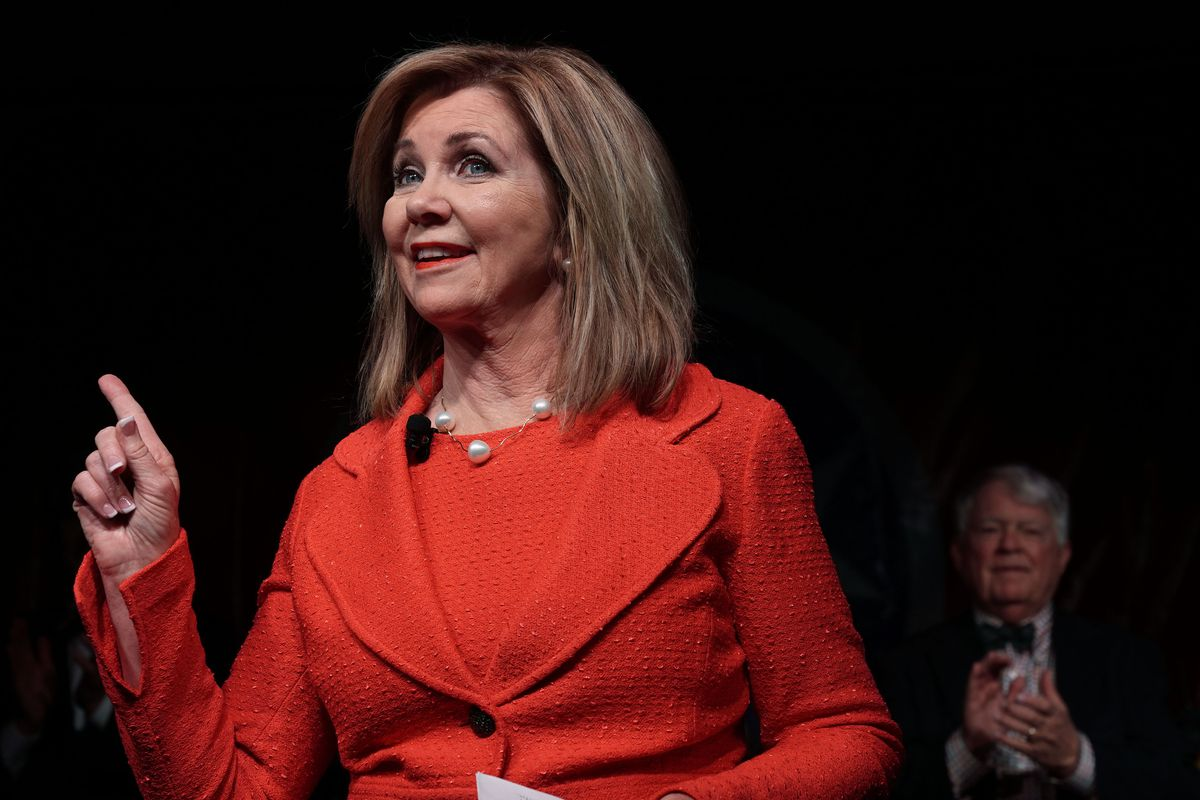 GOP Senate Candidate In Tennessee Marsha Blackburn Attends Election Night Event