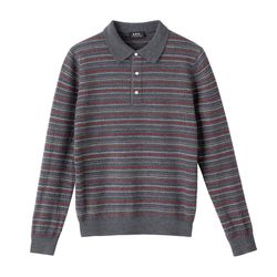 Striped felted merino pullover was $265 now $133