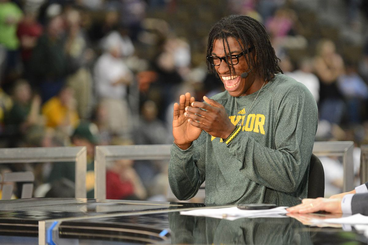 RG3's happy about the Year of the Bear!   Mandatory Credit: Ron Chenoy-US PRESSWIRE