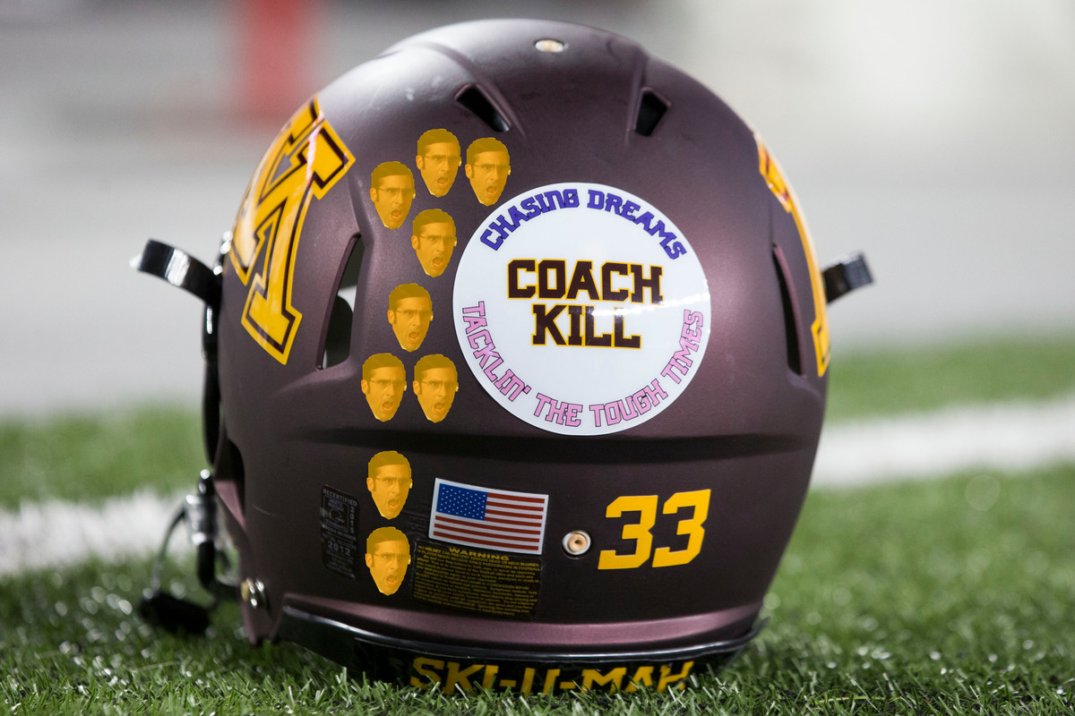 Dear Minnesota Football Here S Your Winning Helmet Sticker Design The Daily Gopher