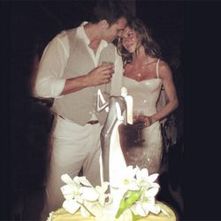 At a super-secret ceremony on February 26th, 2009, Gisele Bündchen wore a tight, sparkly sheath to become Tom Brady's wife.