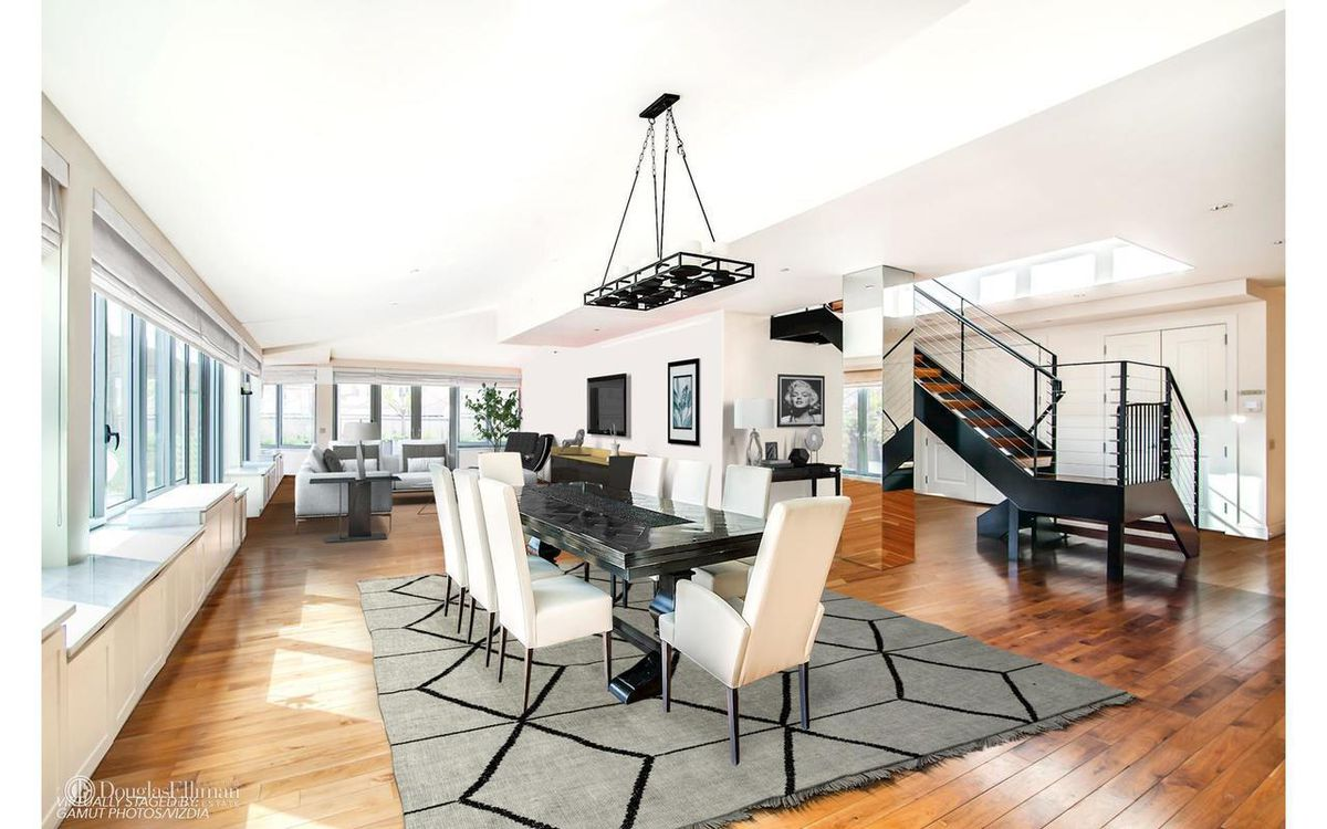 Dining room at 665 6th Avenue penthouse