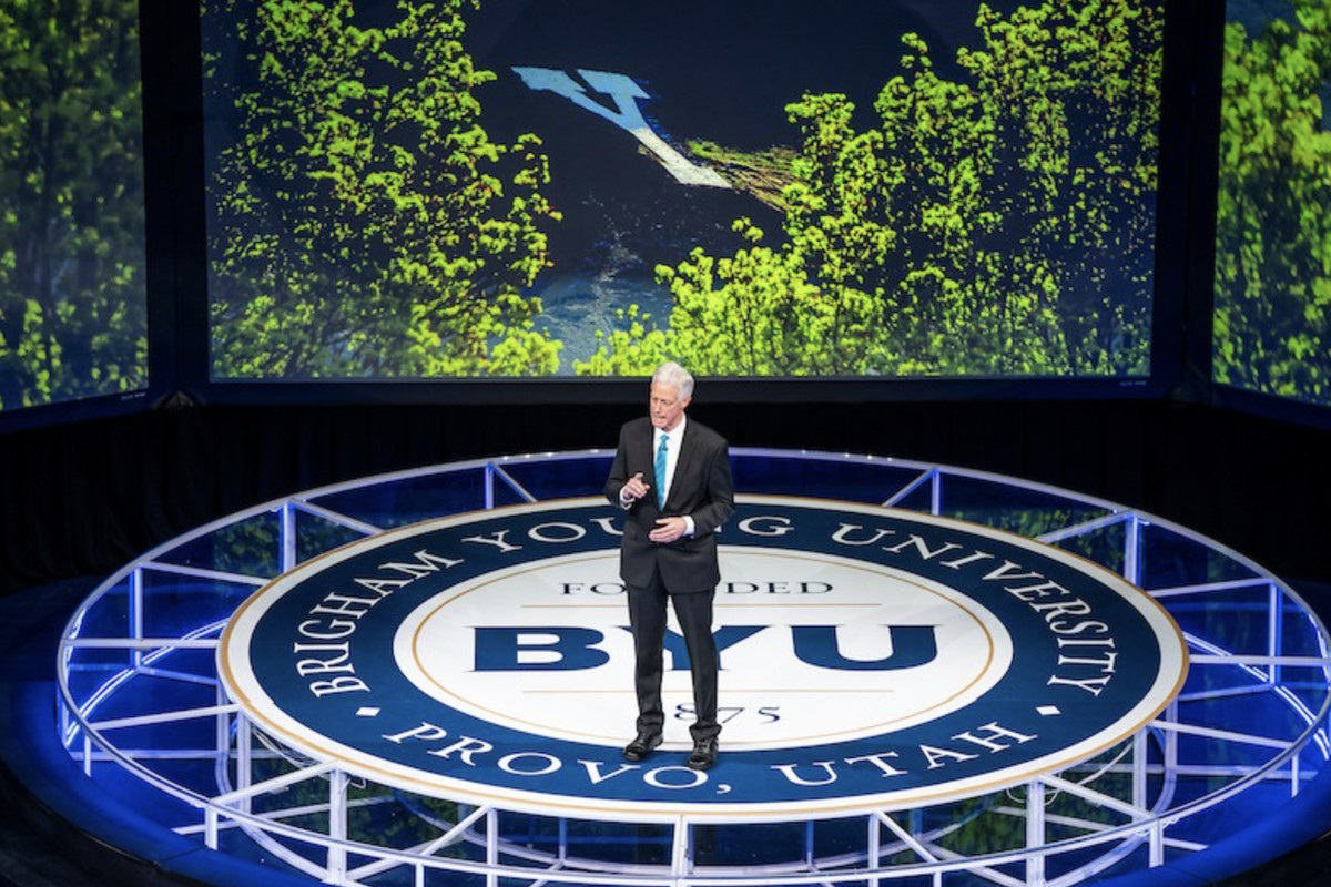 BYU President Kevin Worthen delivered the semester's first campus devotional on Tuesday, Sept. 7, 2021.