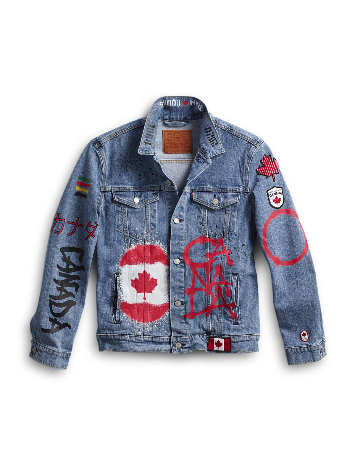 Team Canada will wear this denim jacket during the closing ceremony of the Tokyo Olympics.