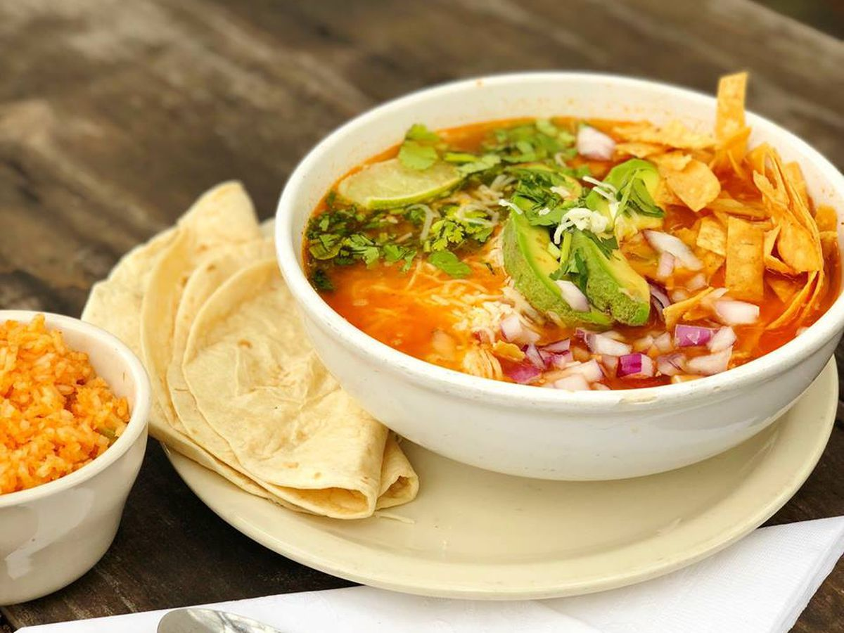 Tortilla soup from Baby Acapulco