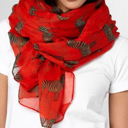 """Zebra Crossing Scarf, <a href=""""http://www.fredflare.com/ACCESSORIES-hats-scarves-and-gloves/Zebra-Crossing-Scarf/"""">$25</a>"""
