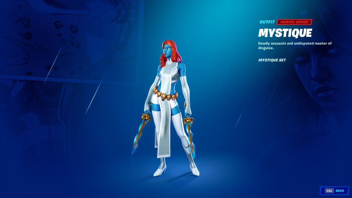 Fortnite's Mystique skin