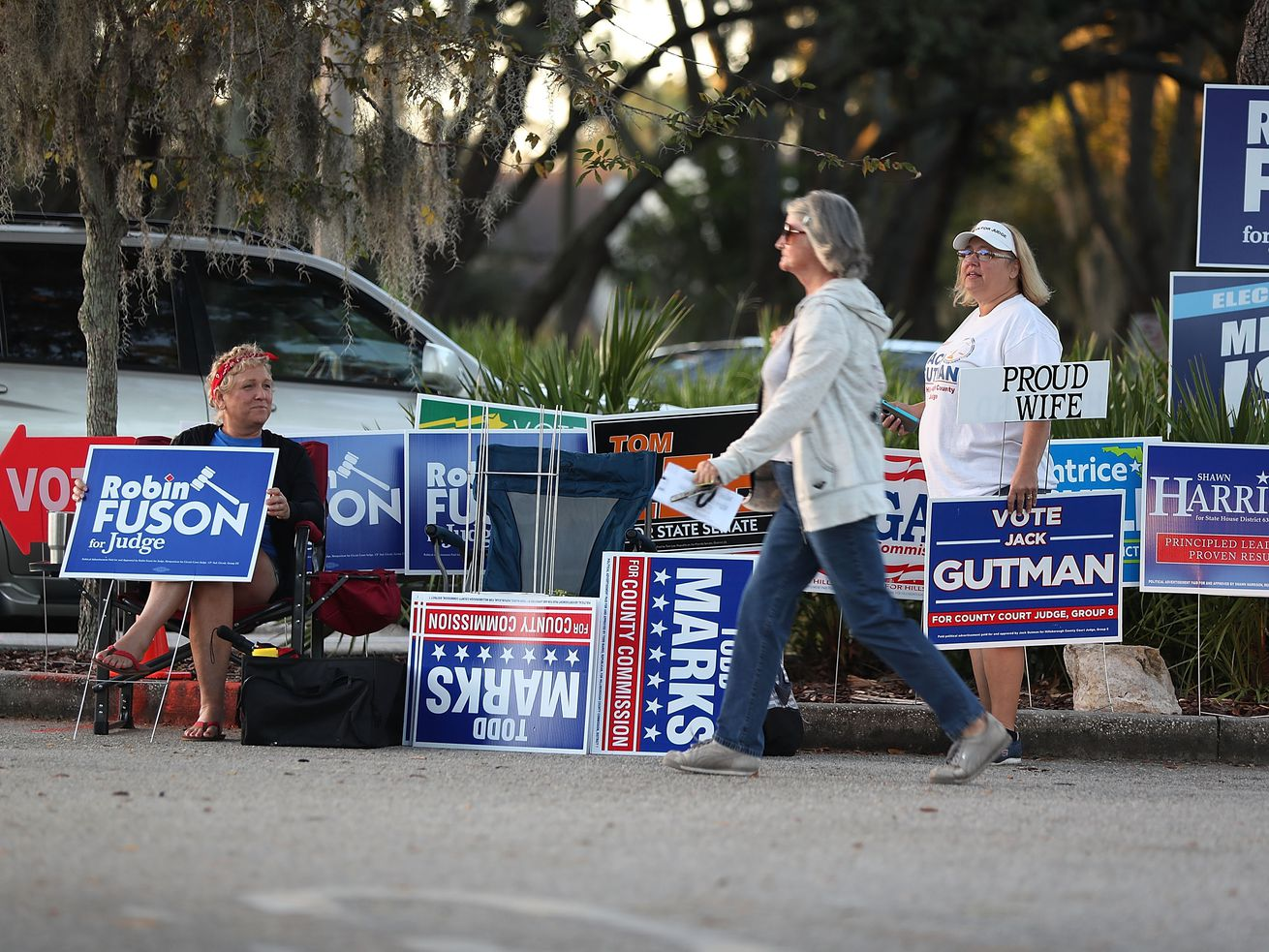 Voters head to the polls as early voting starts in Florida.