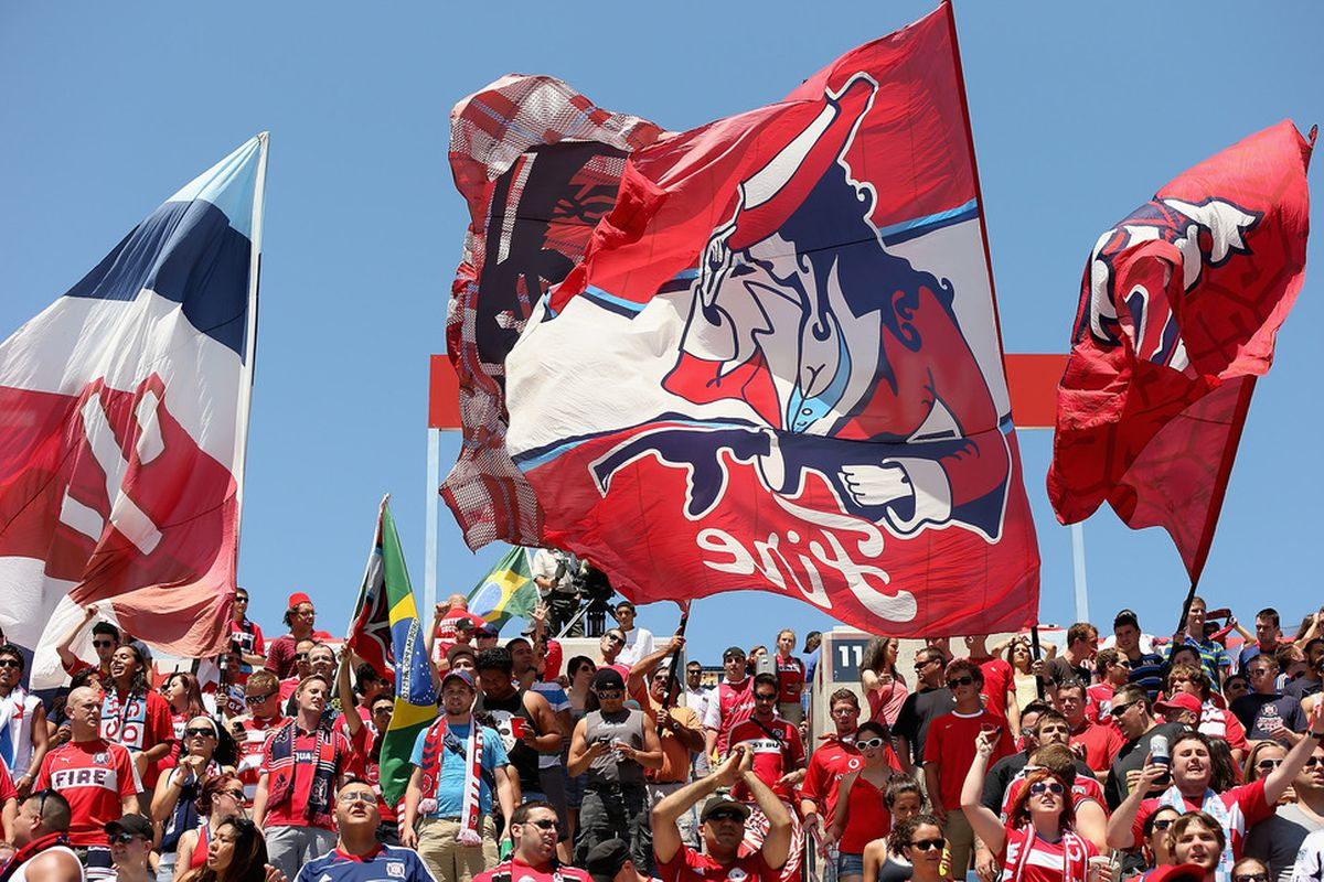 An example of do-it-yourself Fire activities: these flags were made and designed by fellow Fire fans