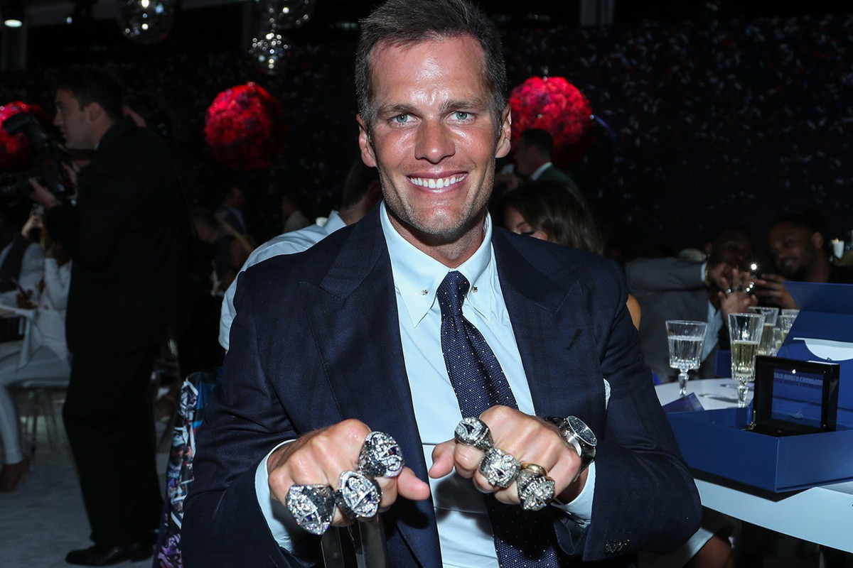 Image result for brady with 6 rings