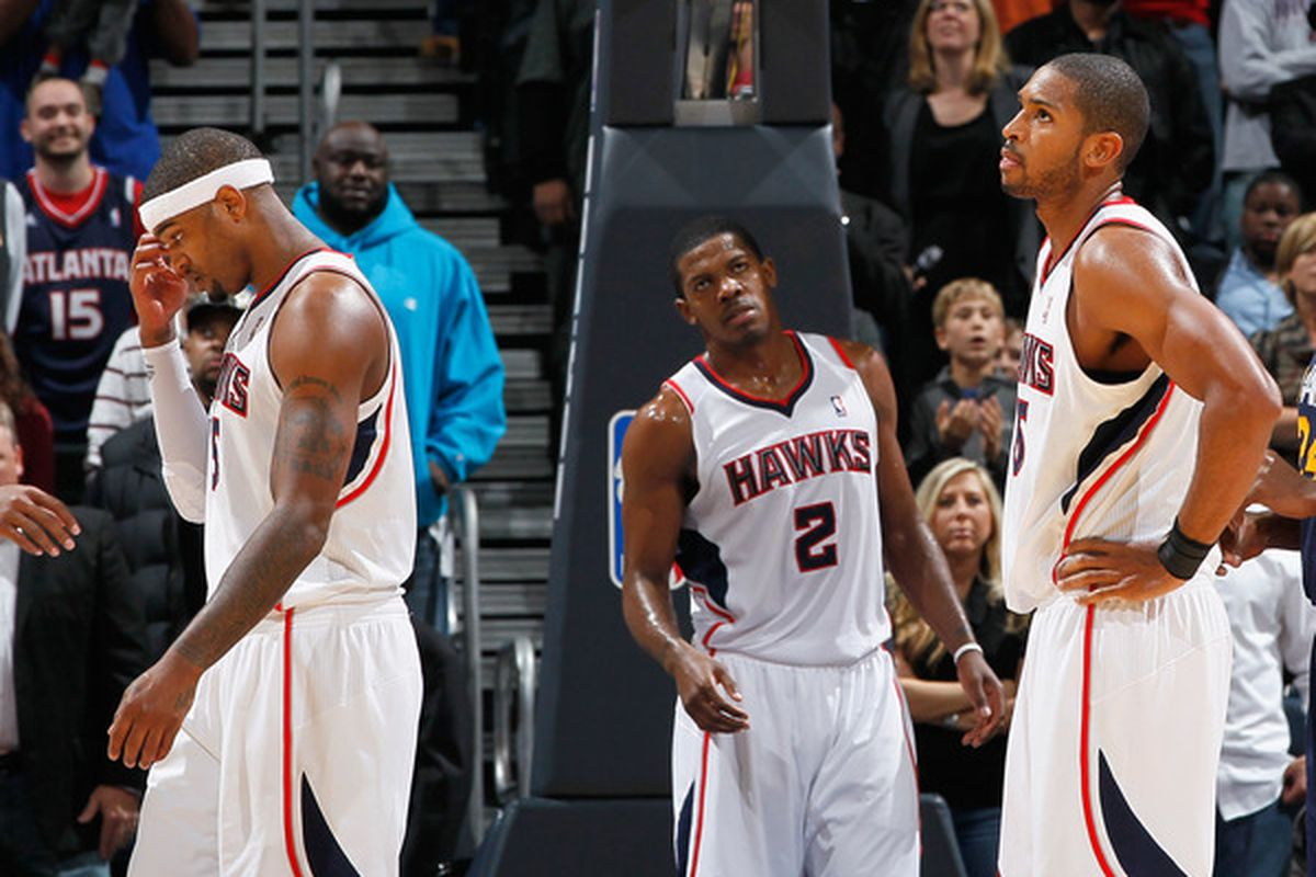 Hopefully the Hawks' trio of leaders will leave the Fieldhosue with a similar expression tonight.